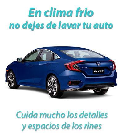 lavar tu auto en invierno