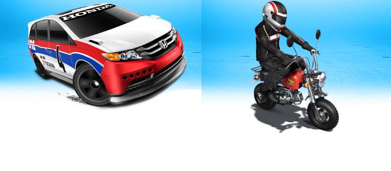 Odyssey 2014 y Moto monkey Honda.