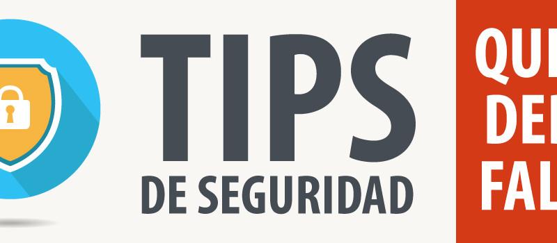 Tips de seguridad